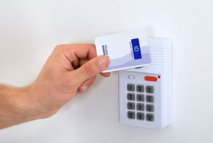 Tapping NFC enabled access card