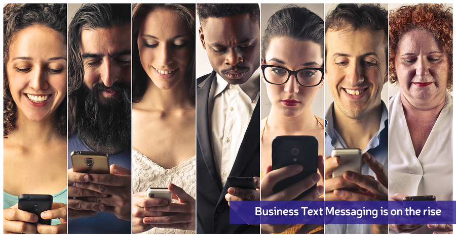 Business text messaging (SMS) people