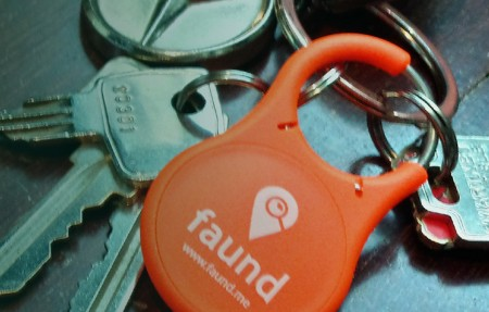 faund key fob attached to keyws