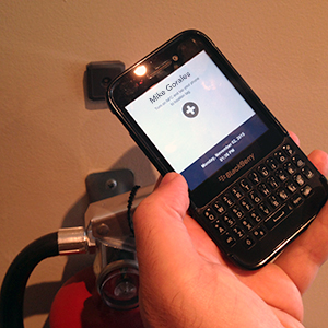 tapping NFC tag with mobile device
