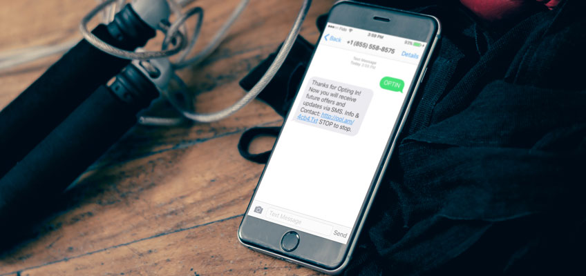 Loyal Customer news and updates notifications via Texting